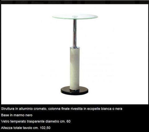 Tavolino in vertro temperato tecnolegno terni