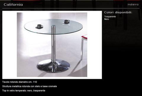 Tavolo rotondo diametro cm.110 tecnolegno viterbo