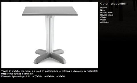 Tavolo in metallo tecnolegno civitavecchia
