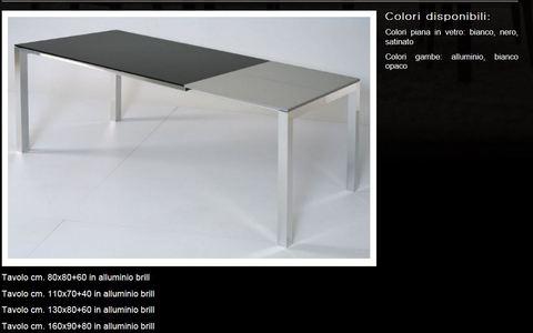 Tavolo in alluminio brill tecnolegno