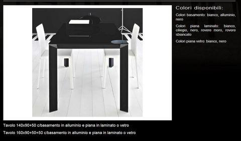 Tavolo piano in laminato o vetro tecnolegno roma