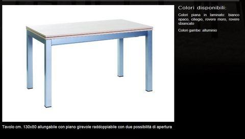 Tavolo con piano raddoppiabile tecnolegno lazio
