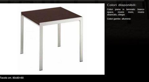 Tavolo cm.80x80+80 tecnolegno roma