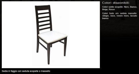 Sedia in faggio tecnolegno roma