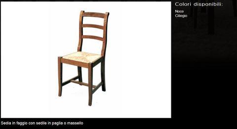 Sedia con sedile in paglia o massello tecnolegno viterbo