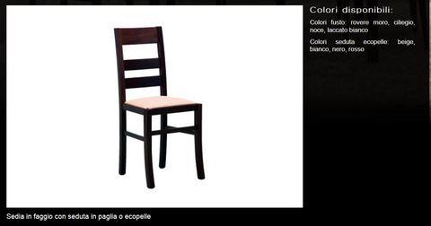 Scelta sedie in faggio varie sedute tecnolegno rieti