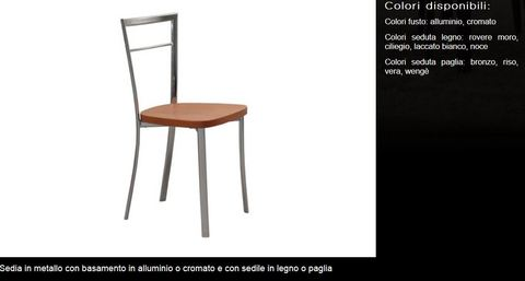 Sedia in metallo tecnolegno roma