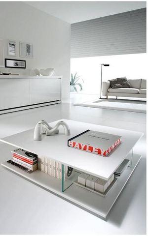 Tavolino moderno bianco ottico mobilgam