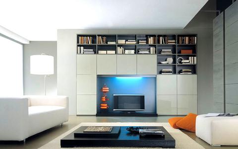Mobile soggiorno con libreria mobilgam lazio
