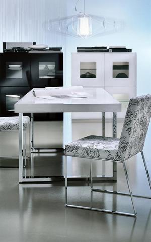 Tavolo laccato sedie in tessuto mobilgam roma