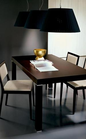 Tavolo e sedie in rovere moro mobilgam lazio
