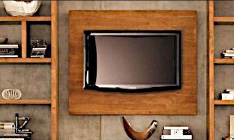 Boiserie porta tv in legno roma