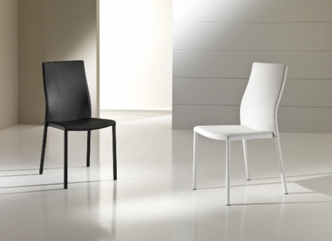 Sedia in soft ecopelle bianco o nero maxhome roma