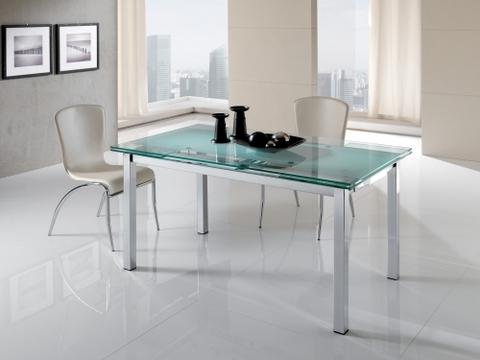 Tavolo da pranzo allungabile top in vetro maxhome terni for Ingrosso arredamenti roma