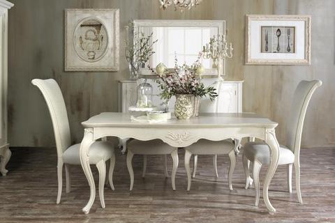 Tavoli e sedie classici color avorio roma grandi sconti for Arredamenti classici roma