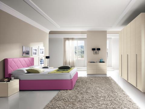 Camera moderna valentini letto lilla chiaro roma grandi for Valentini arredamenti