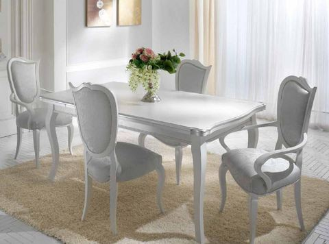 Tavolo bianco spugnato madreperla tempo d'arredo