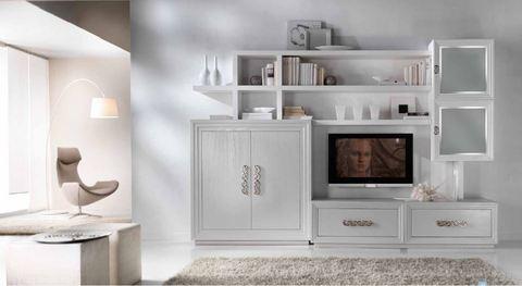 Mobile soggiorno con vetrinette tempo d 39 arredo frosinone for Arredamenti frosinone