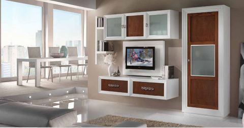 Mobile classico sopeso con pannello porta tv tempo d'arredo