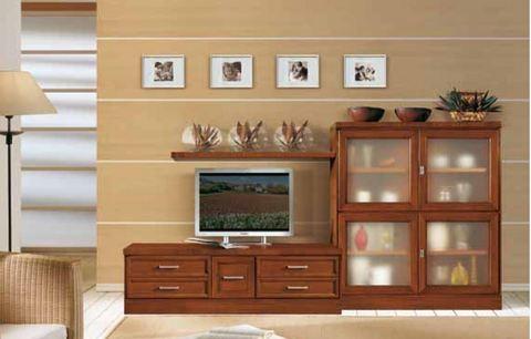 Mobile soggiorno classico cm 280 tempo d 39 arredo grandi sconti ingrosso arredamenti roma - Mobile soggiorno classico ...
