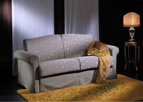 Divano letto con balza in tessuto grigio stilfaritalia rieti