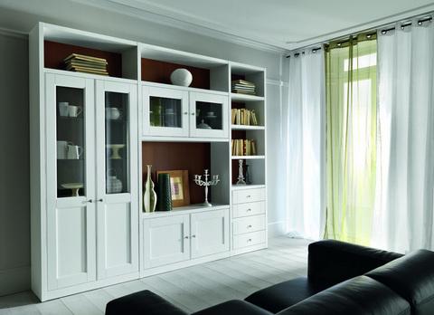 mobile soggiorno classico laccato bianco viterbo mobile soggiorno ...