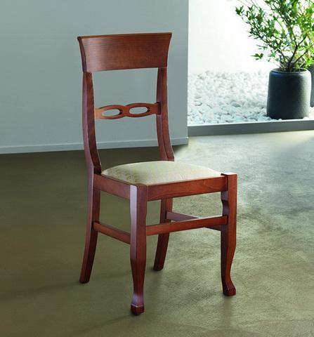 Sedia classica in legno con seduta imbottita roma | Grandi ...