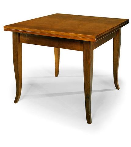 Tavolo quadrato in legno stile classico alpe frosinone - Tavolo quadrato 80x80 allungabile ...