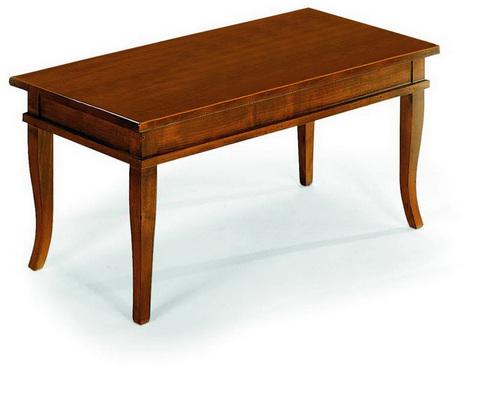 Tavolino basso in noce stile classico alpe roma