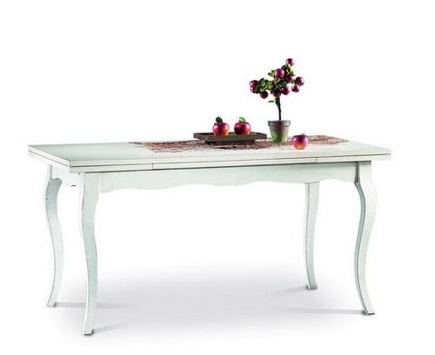 Tavolo bianco classico allungabile alpe rieti grandi for Ingrosso arredamenti roma