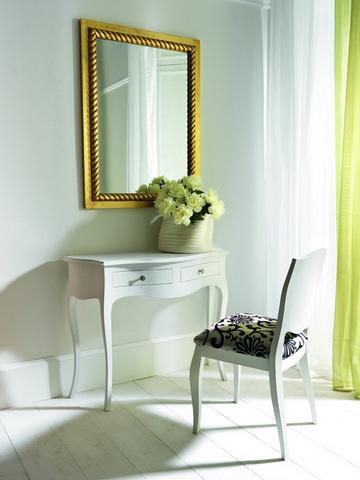 Tavolino consolle laccatura bianca modello alpe roma