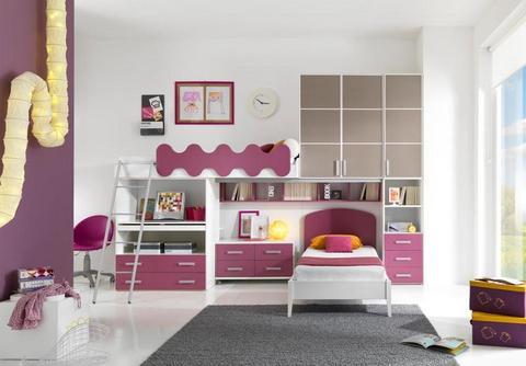 Cameretta bambina rosa,grigia e bianca mcs roma
