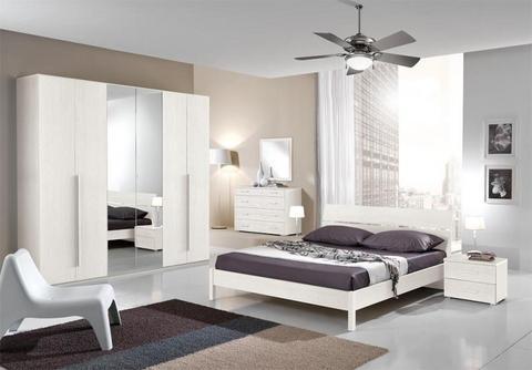 Camera da letto in larice bianco lazio grandi sconti for Sconti mobili roma