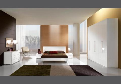 Occasione camera da letto bianco lucido mcs lazio