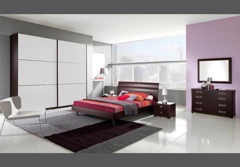 Proposta camera da letto colore rovere moro e panna roma
