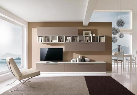 Mobile soggiorno larice bianco e brown mcs roma grandi for Ingrosso arredamenti roma