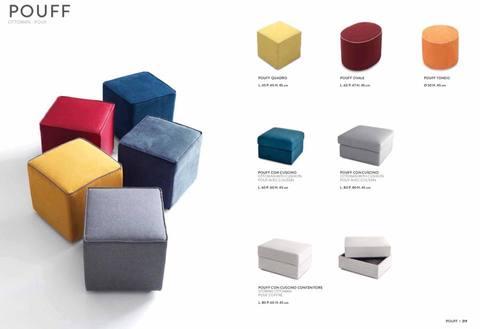 Vari modelli di pouff colorati roma