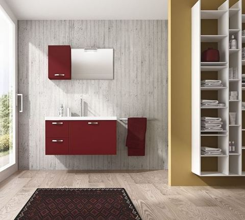 Mobile bagno top in mineral marmo roma