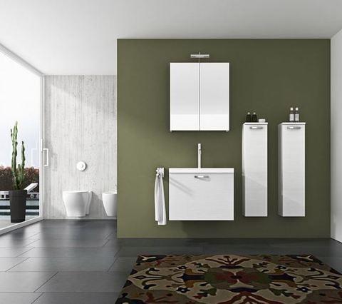 Mobile bagno venato bianco roma
