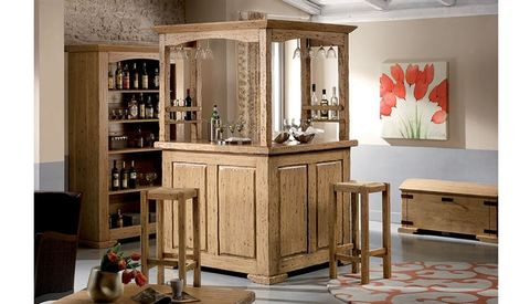 Mobile bar in legno naturale roma