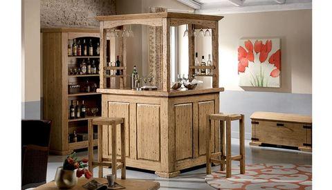 Mobile bar in legno naturale roma grandi sconti for Ingrosso arredamenti roma