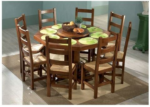 Tavolo con sedie in stile rustico roma