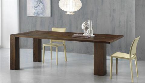 Tavolo rettangolare in rovere scuro roma