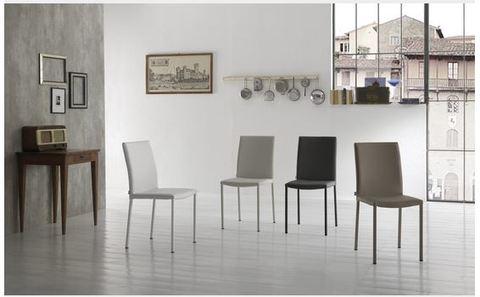 Sedia Moderna Con Rivestimento In Ecopelle Roma
