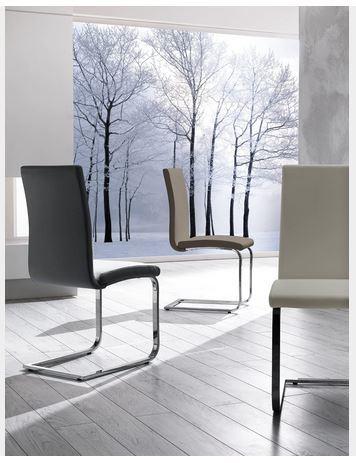 Sedia moderna con gambe cromate zamagna