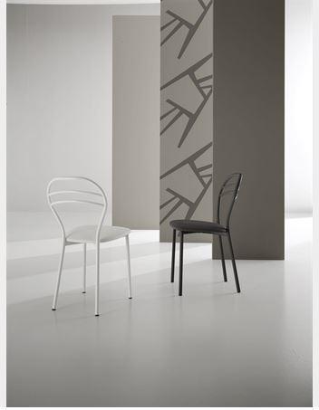 Sedia struttura in metallo e seduta in ecopelle roma
