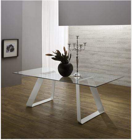 Tavolo con strutta in vetro od in legno roma