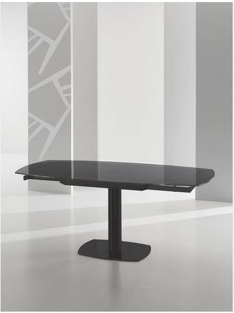 Tavolo in vetro con mevvanismo girevole roma