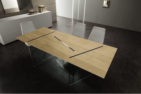Tavolo in legno e vetro lazio