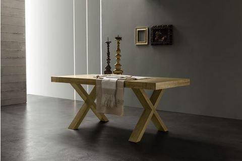 Tavolo rettangolare rovere naturale rustico roma